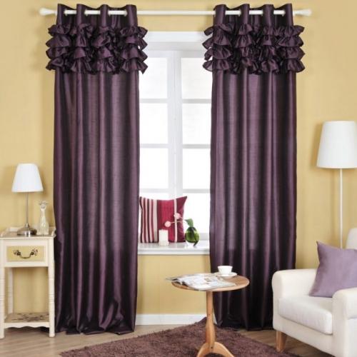 Draperie eleganta din satin culoare violet pruna