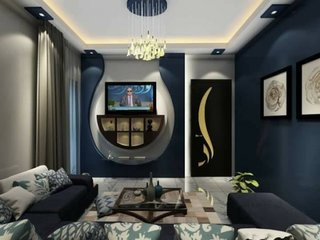 Decor bicolor perete TV