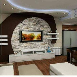 Decor clasic perete cu TV
