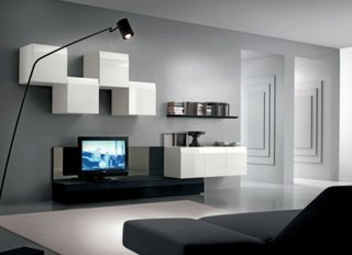 Decor modern perete tv