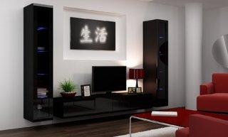 Decor perete TV cu mobilier si tablou