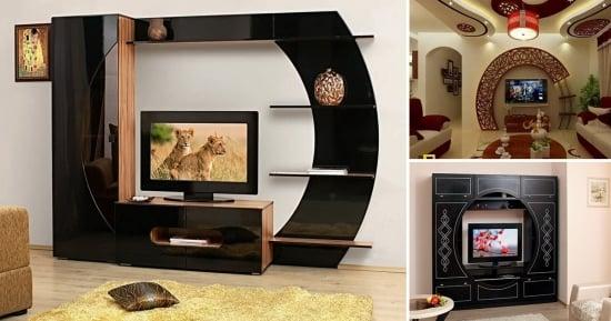 Peretele cu televizorul - idei incantatoare pentru amenajarea si decorarea lui