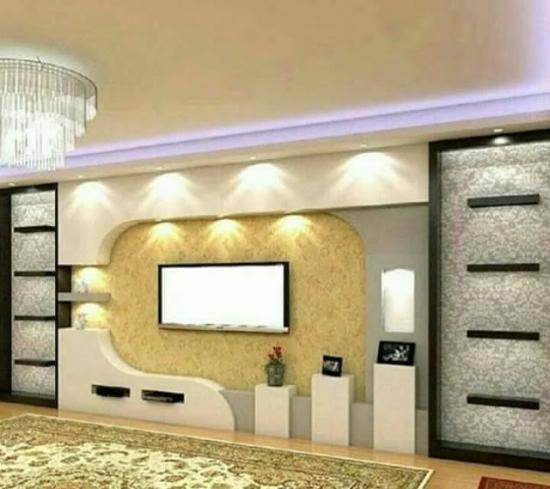 Design modern perete cu TV
