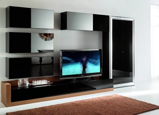 Mobilier minimalist perete TV