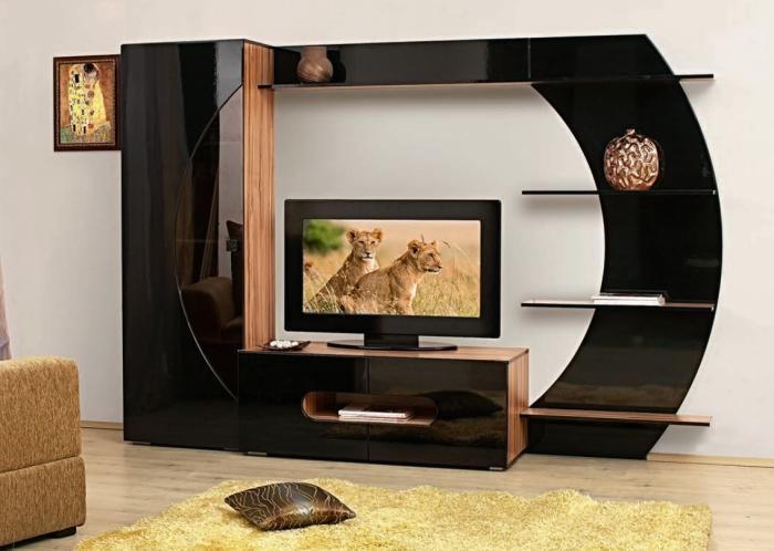Mobilier negru TV