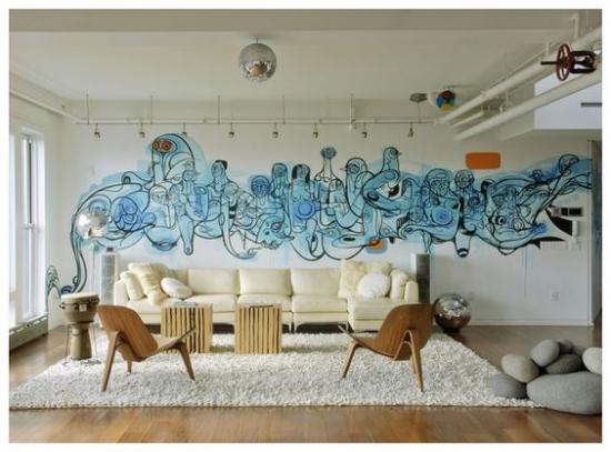 Interioare cu graffiti