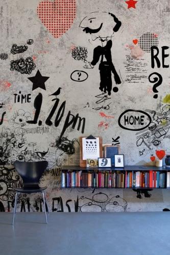 Tapet colorat stil graffiti