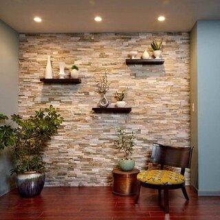 Idee de amenajare perete cu piatra