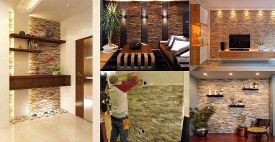Pereti placati cu piatra decorativa - idei originale de design interior