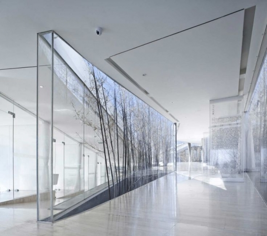 perete de sticla folosit pentru inserarea naturii in ambianta casei