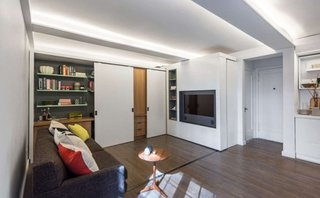 Usile glisante modalitate de marirea a spatiului intr-un apartament mic