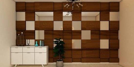 Design interior cu perete placat cu lemn