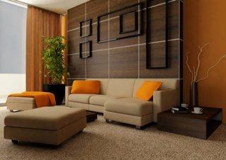 Design modern cu perete din lemn