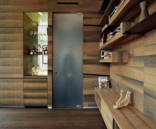 Pereti living placati cu lemn