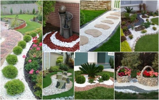 Pietris decorativ alb si decoruri uimitoare de gradina pe care le poti crea cu ajutorul lui