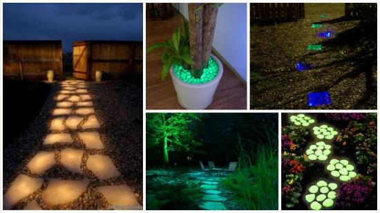Pietris fosforescent - o alternativa pentru decorarea si iluminarea gradinii