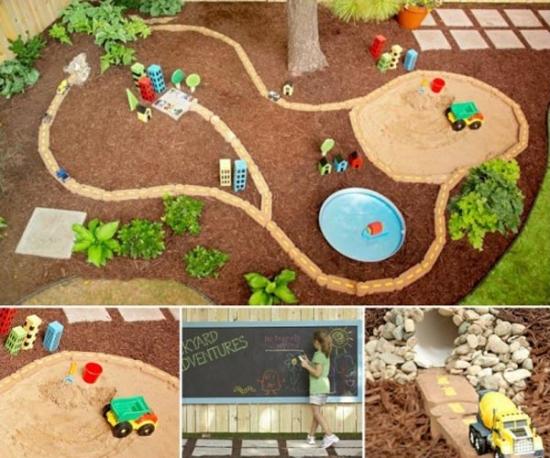 Idee amenajare loc de joaca pentru copii in gradina casei