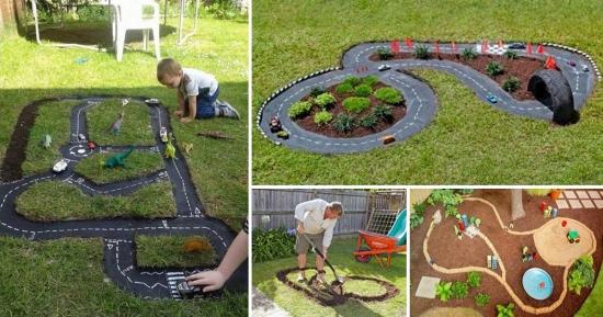 Cum construiesti o pista pentru masinute in curtea casei | idei de jucarii pentru copii facute acasa