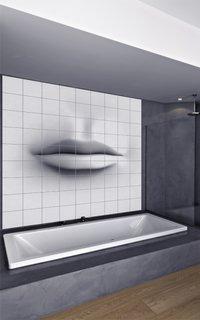 Faianta cu imagine alb negru pentru peretele din spatele cazii
