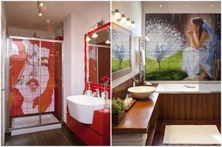 Faianta cu peisaje pentru baie