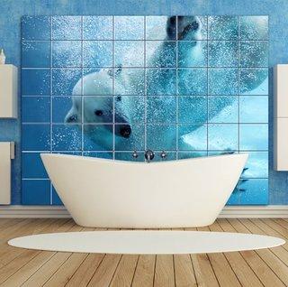 Placi ceramice de faianta personalizate cu imaginea unui us polar