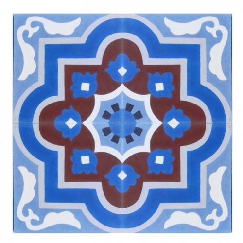 model de placi decorative din ciment colorat