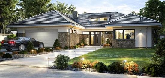 Plan de casa mare parter cu 4 dormitoare