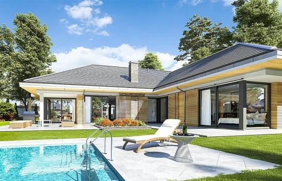 Casa cu terasa si piscina