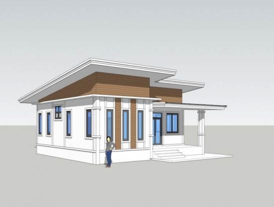 Plan casa simpla cu parter