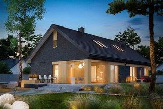 Casa cu mansarda si terasa acoperita