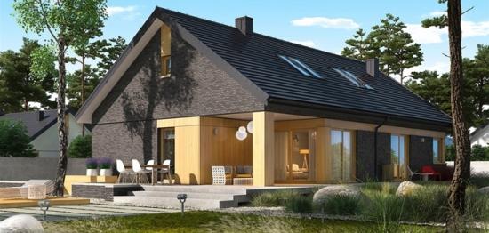 Plan detaliat casa moderna cu mansarda si garaj for Casa moderna romania