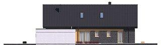Elevatie laterala casa cu garaj