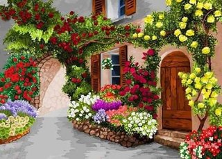 Trandafiri cataratori golden showers galbeni si don juan rosii