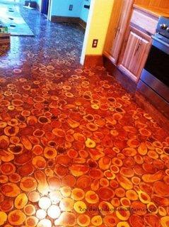 Podea din rondele de lemn