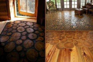 Podele din discuri de lemn
