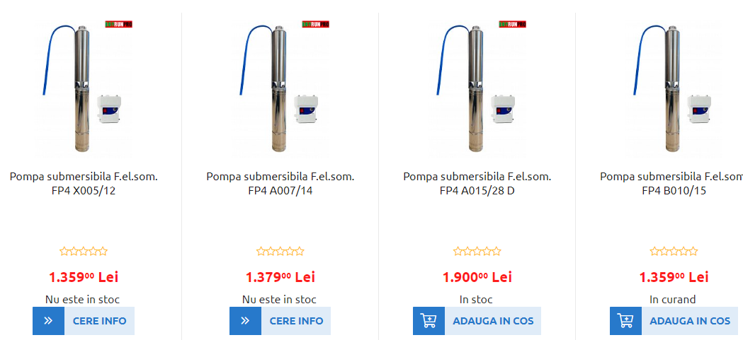Pompe submersibile F.el.som pentru alimentarea cu apa curata - O conditie necesara pentru viata