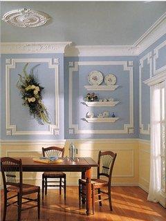 Decor clasic cu baghete decorative pe tavan si pereti