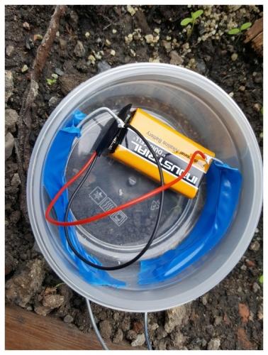 Conectare baterie de 9V