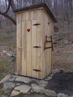 WC curte din lemn