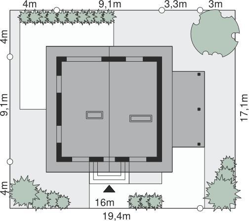 Amprenta casa de 80 mp