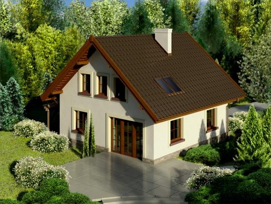 Casa cu amprenta 80 mp