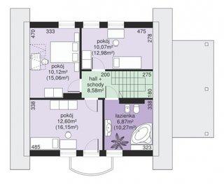 Dormitoare la etaj  de 45 mp