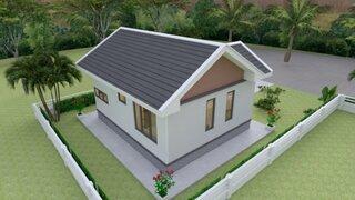 Plan de casa cu acoperis in doua ape