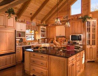 Bucatarie mobilata complet cu lemn