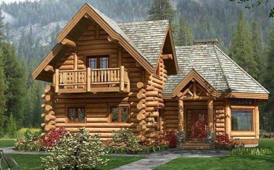 Casa construita din busteni rotunzi