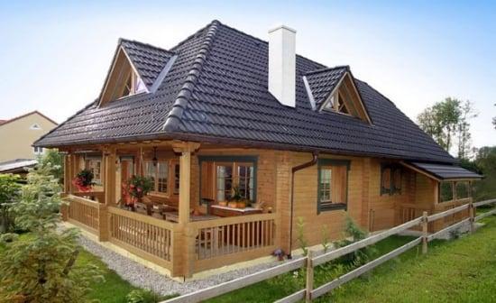 Iata cum se construieste o casa din caramizi de lemn - un proiect cu adevarat prietenos cu mediul