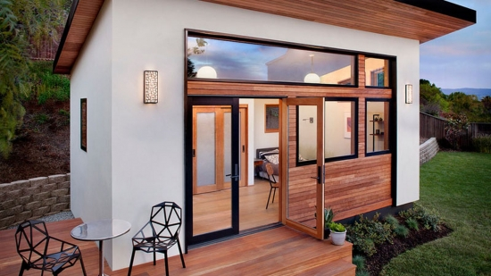 Proiect de casa cu o camera - o idee compacta insa mareata