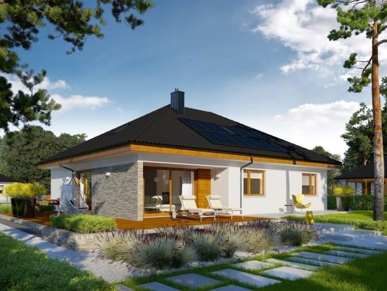 Casa parter cu 2 camere vedere terasa lemn