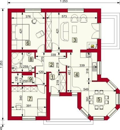 Planuri casa parter for Case parter 3 camere