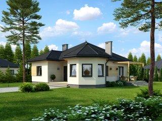 Proiect casa fara etaj cu 2 dormitoare